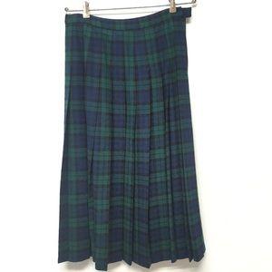 Pendleton Skirt 100% Wool Black Watch Tartan Plaid